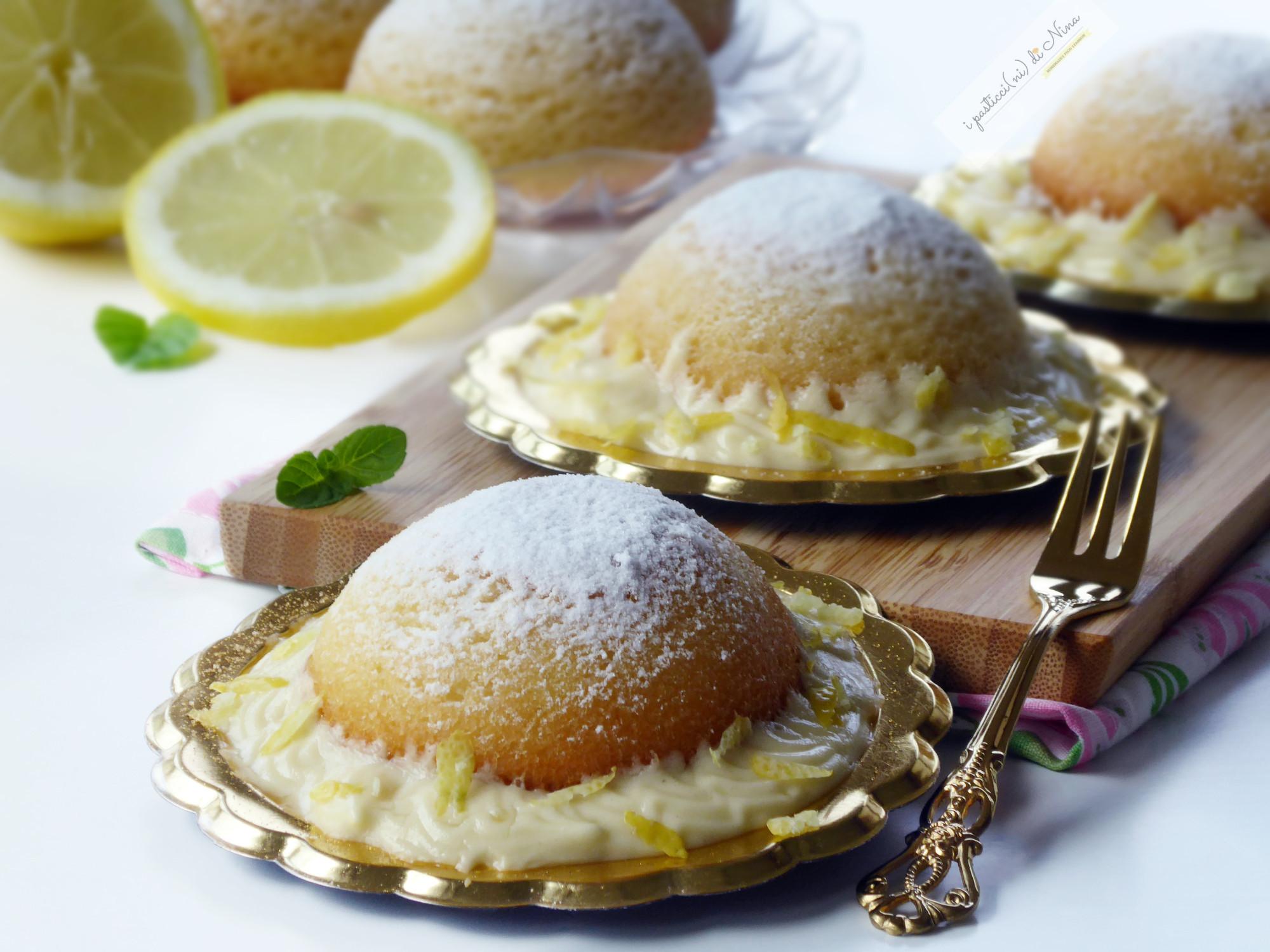 Semisfere soffici con crema al limone chantilly