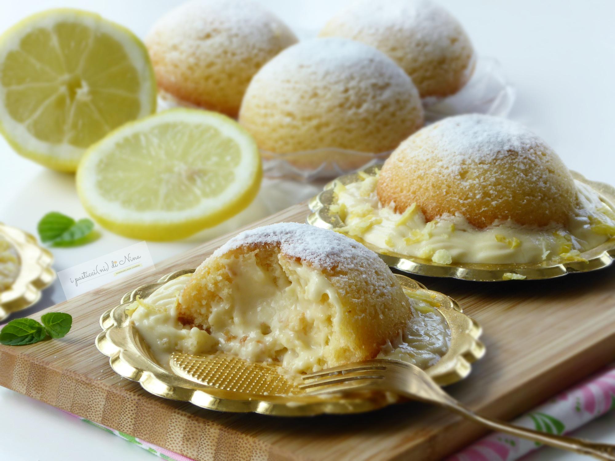 Semisfere soffici e cremose con crema al limone