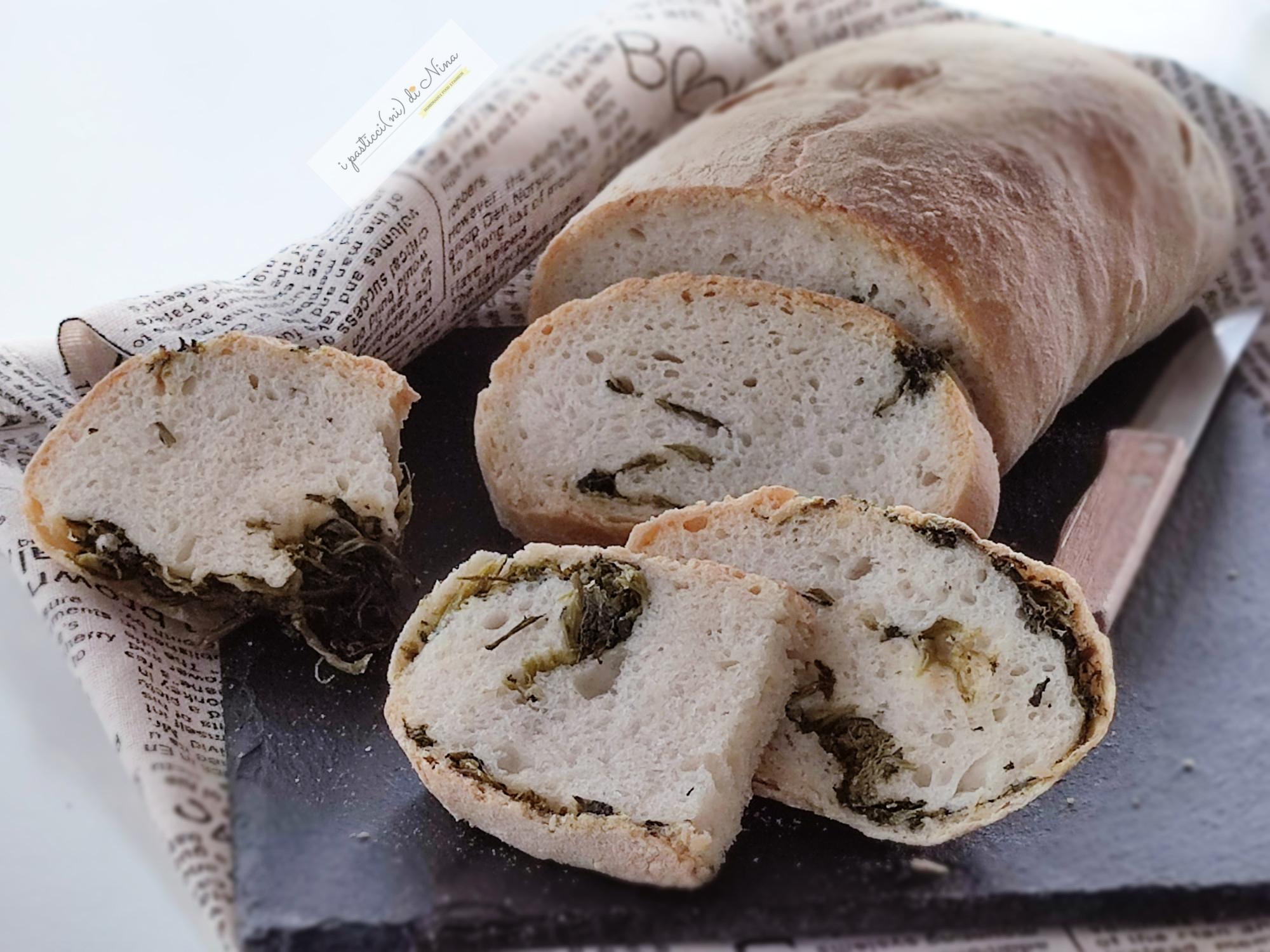 pane ai friarielli fatto in casa gustoso e croccante fuori con tanta mollica
