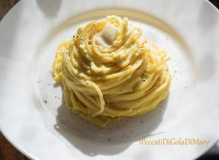Spaghetti alla crema di zucca e burrata