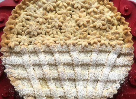 Crostata doppia farcitura: crema zenzero-limone e crema pasticcera al limone