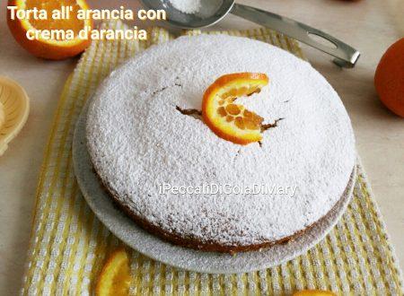 Torta all'arancia con crema d'arancia