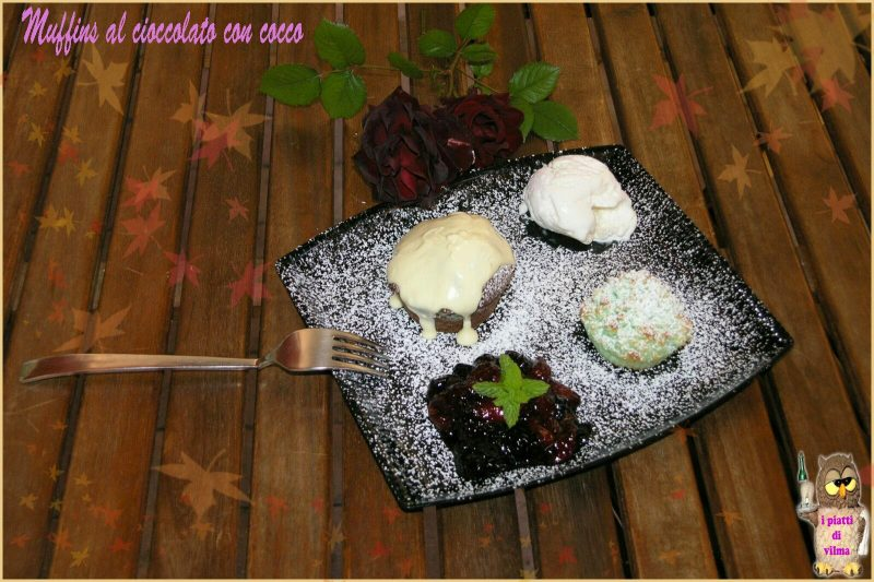 muffins al cioccolato con cocco