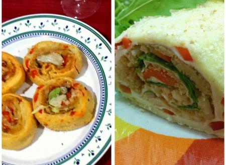 Rotolo di pasta sfoglia alla vegetariana