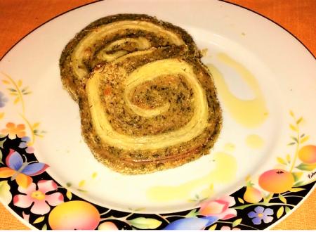 Pasta sfoglia in polpettone verde