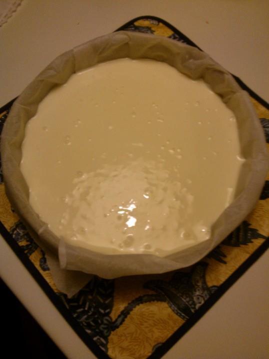 cheesecake pronta da infornare