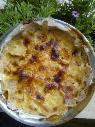 tortino patate e funghi