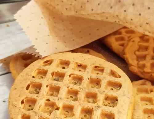 Mini pizza waffle