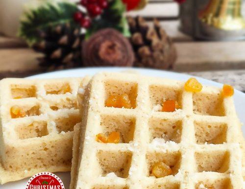 Waffles senza glutine vaniglia e arancia