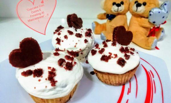 """""""Cupcake Con Cuore E Frosting Al Mascarpone""""…!!!"""