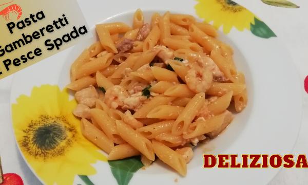 Pasta Con Gamberetti E Pesce Spada