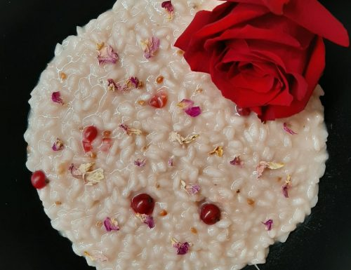 Risotto alle rose e ribes