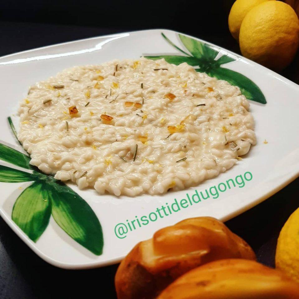 risotto limone scamorza affumicata rosmarino