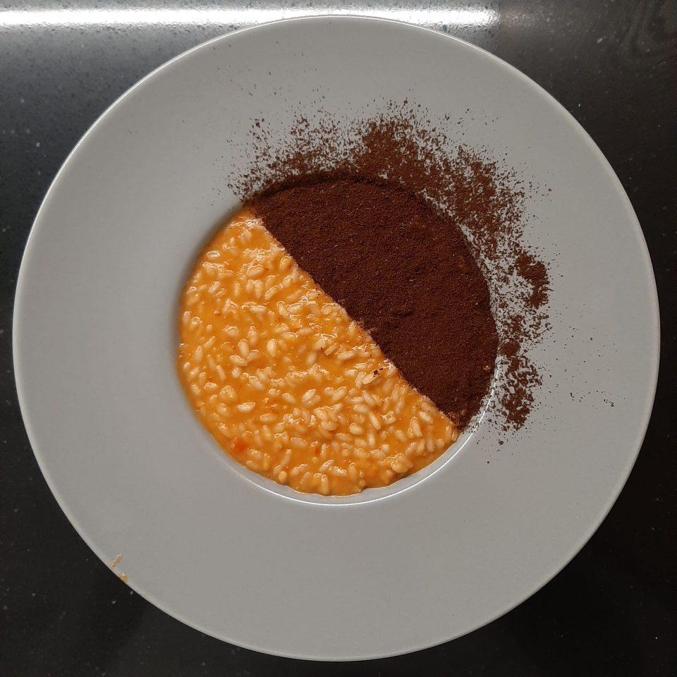 risotto peperoni caffè