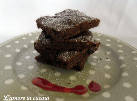 Brownies cioccolato e amarene, per la festa del papà!