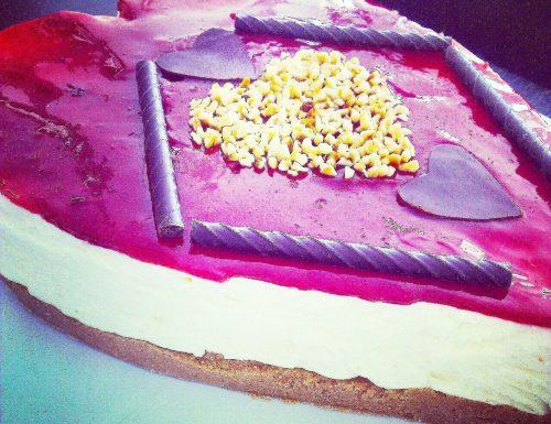 Cheesecake a forma di cuore