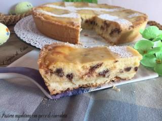 Pastiera napoletana con gocce di cioccolata (foto passo passo)