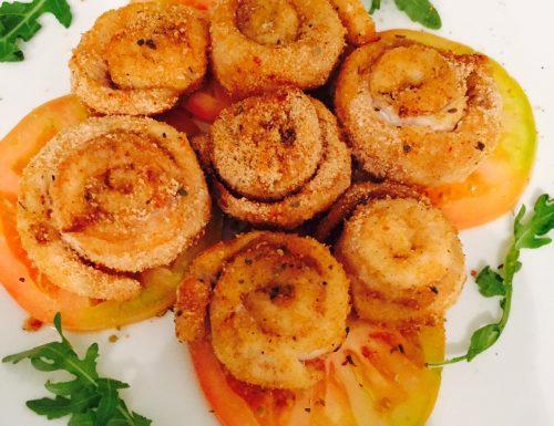 Girelle di pesce persico impanato al forno