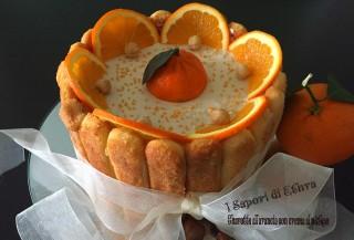 Charlotte all'arancia con crema al nutkao