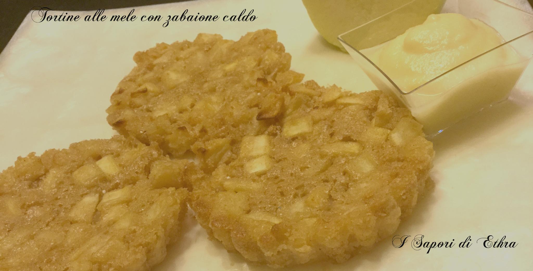 Tortine di mele con zabaione caldo(foto passo passo)