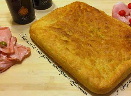 Focaccia con patate nell'impasto sofficissima