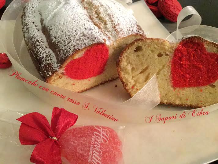 Plumcake con cuore rosso S. Valentino