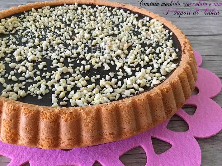 Crostata morbida cioccolato e rum (facile e veloce)