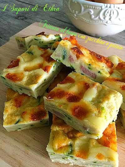 Frittata al forno con zucchine e patate - I Sapori di Ethra