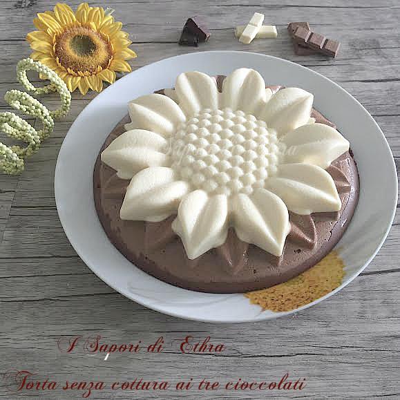 Torta senza cottura ai tre cioccolati - I Sapori di Ethra