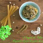 Reginette al pesto di pistacchi e funghi