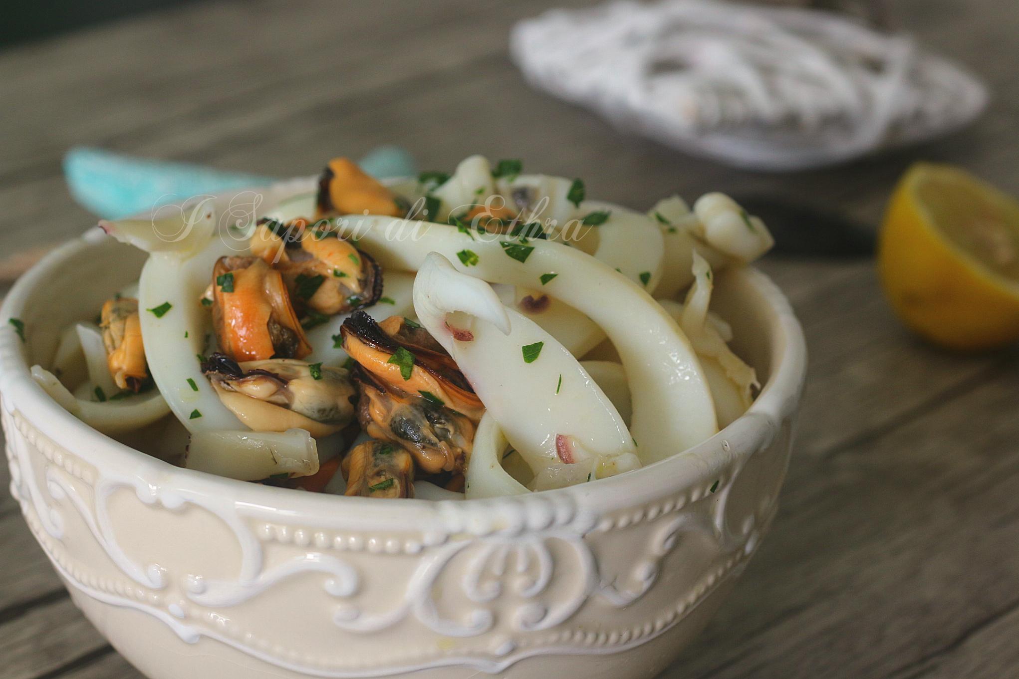 Insalata di mare con seppie e cozze tarantine - I Sapori di Ethra