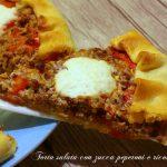 Torta salata con zucca peperoni e ricotta