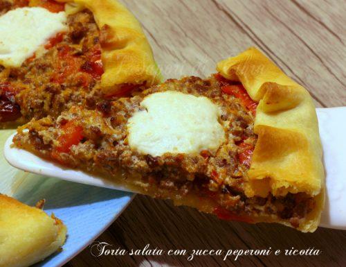Torta salata con zucca peperoni e ricotta – I Sapori di Ethra