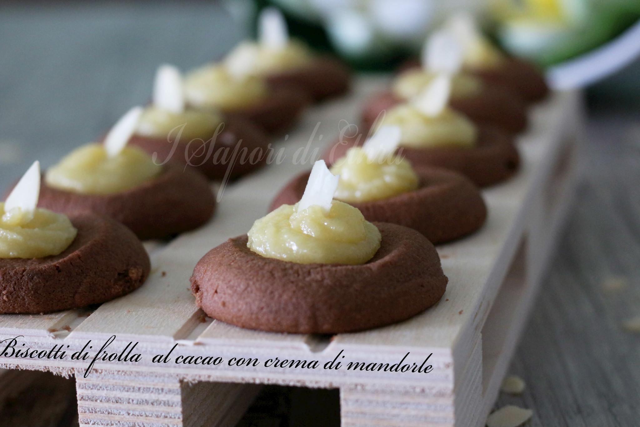 Pasta frolla al cacao con crema di mandorle- I Sapori di Ethra