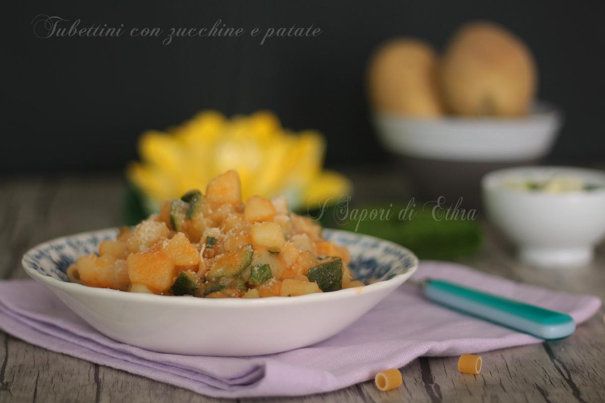 Pasta con zucchine e patate ricetta - I Sapori di Ethra
