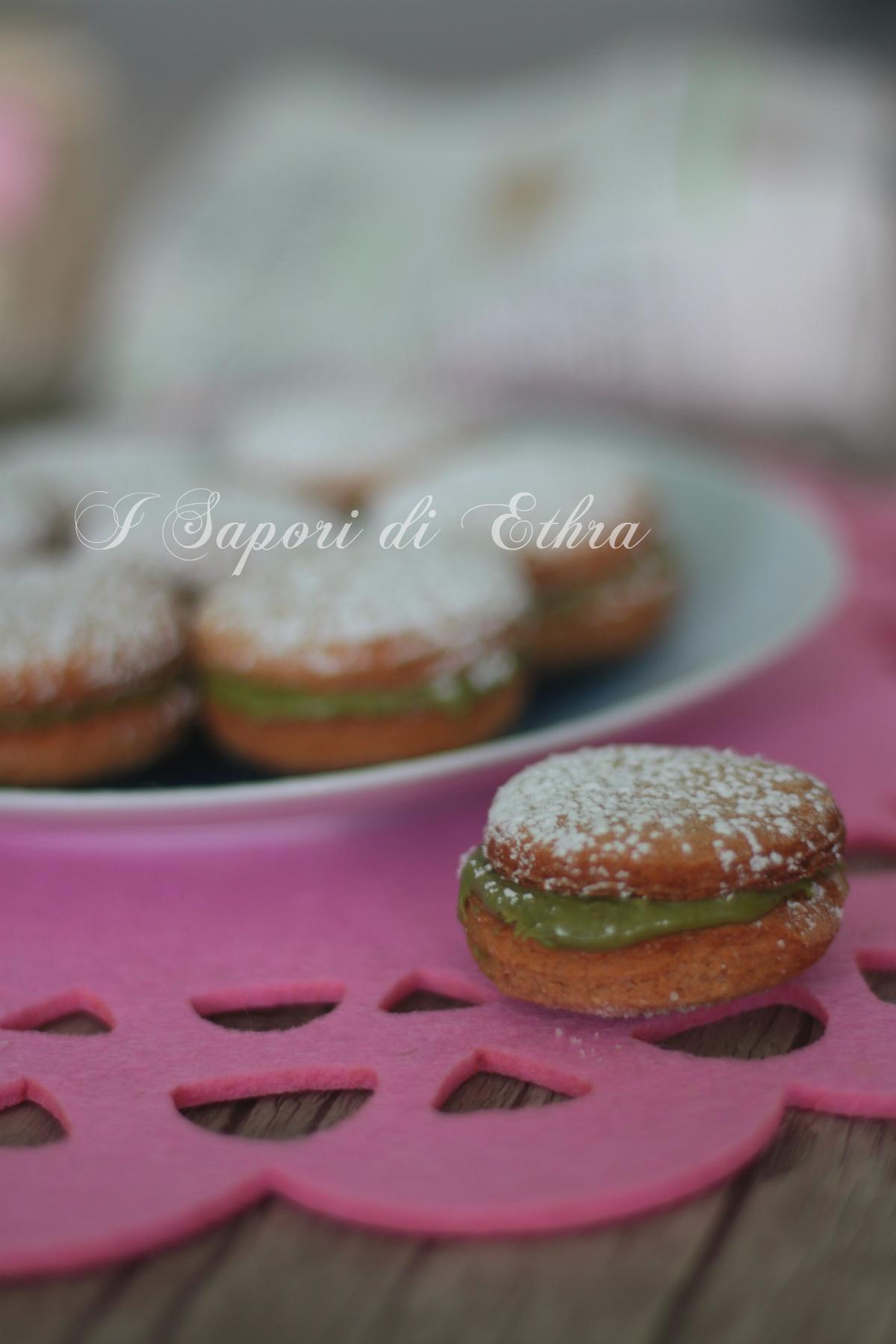 Biscotti di castagne ripieni al pistacchio - I Sapori di Ethra