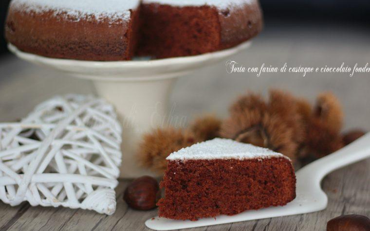 Torta con farina di castagne e cioccolato fondente - I Sapori di Ethra
