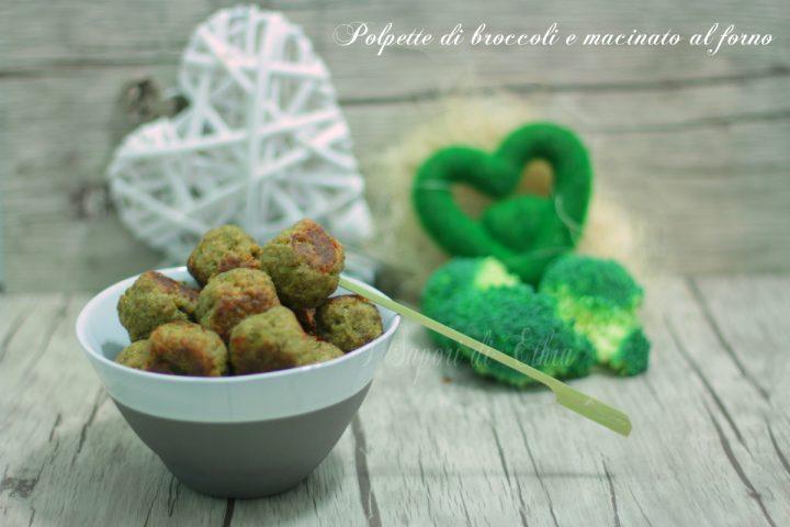 polpette di broccoli e macinato al forno
