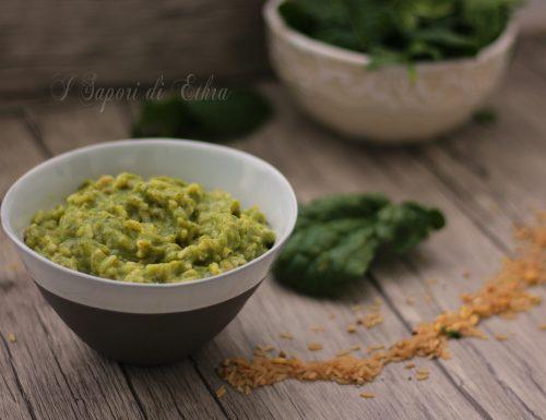 Ricetta light con grano saraceno e crema di spinaci