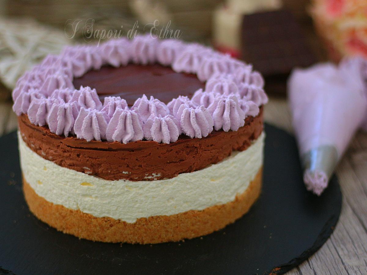 Ricetta cheesecake senza cottura con mousse al cioccolato