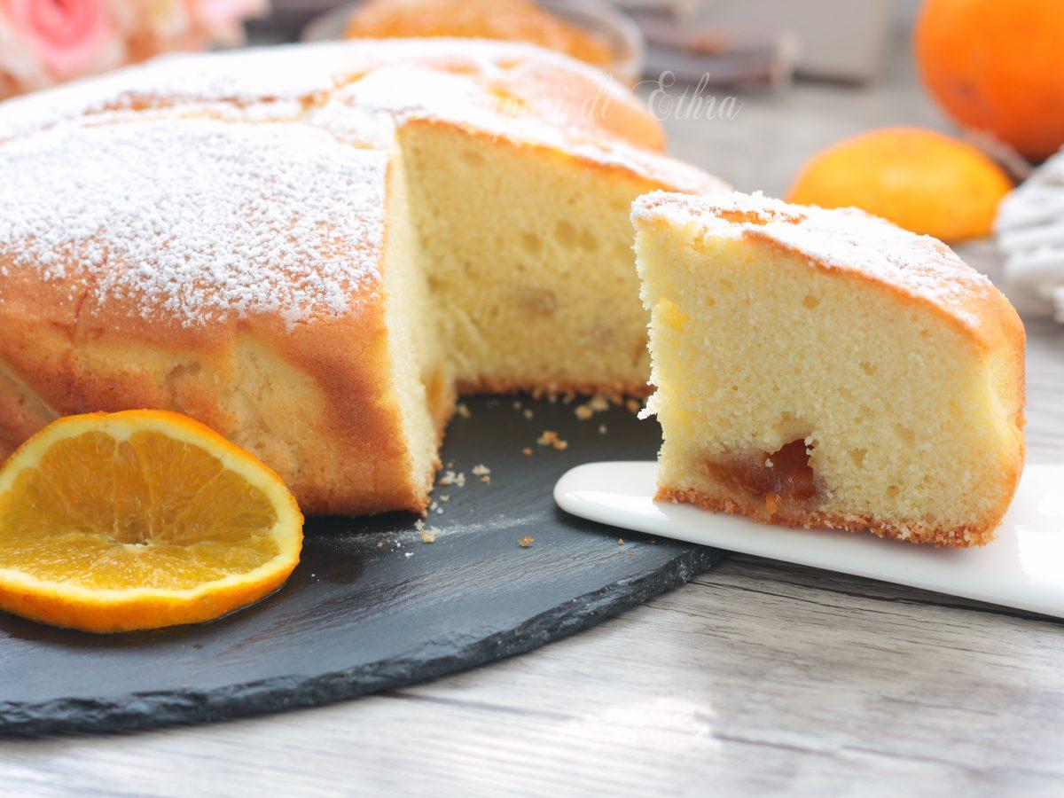 Torta all'arancia ricetta golosa a forma di cuore velocissima