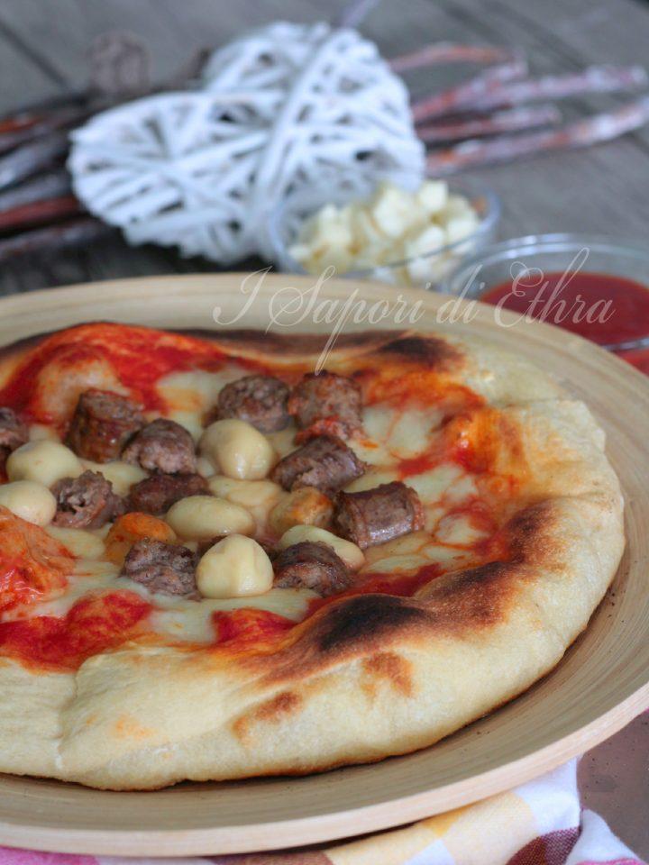 Pizza salsiccia e funghi impasto 50 ore