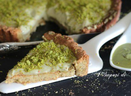 Crostata con crema e frolla al pistacchio