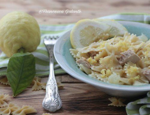 Pasta con tonno e limone ricetta veloce