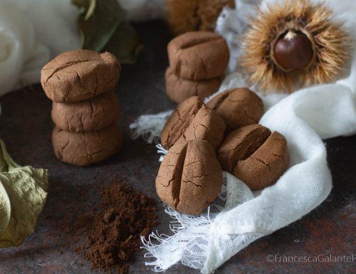 Biscotti al caffè con farina di castagne