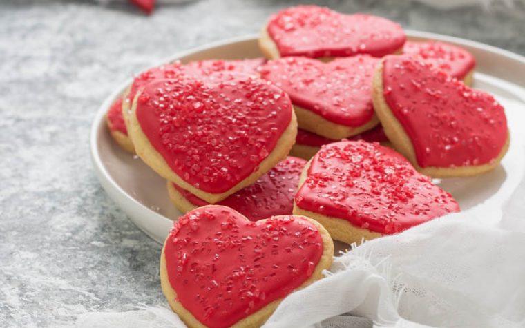 Biscotti con cuore red S. Valentino