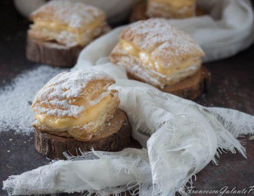 Sporcamuss ricetta pugliese con crema pasticcera