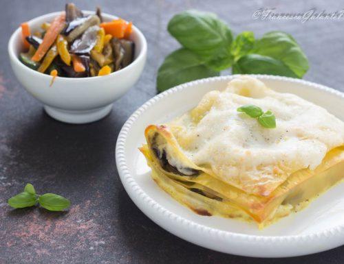 Lasagne con verdure e besciamella fatta in casa