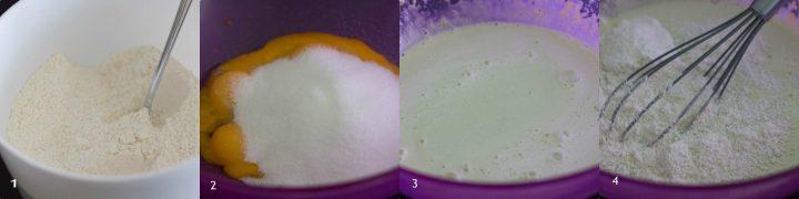 Chiffon cake al cocco e menta sofficissima