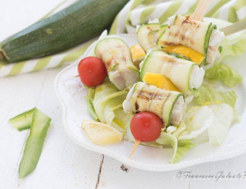 Spiedino di pesce con zucchina light